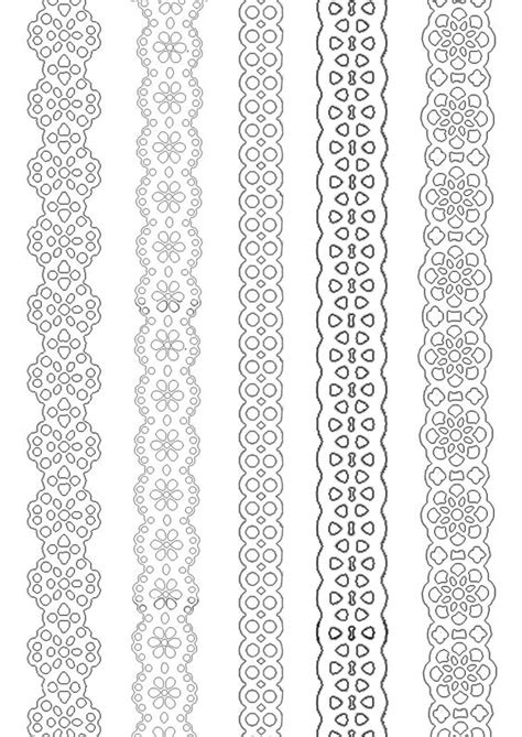 printable paper ribbon paper lace ribbons to print and paint everywhere deco