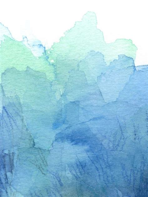 water color abstract watercolor texture blue green olechka society6