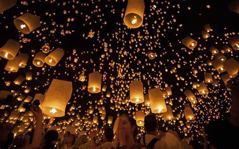 new year lantern festival chicago thailand s floating lantern festival travel leisure