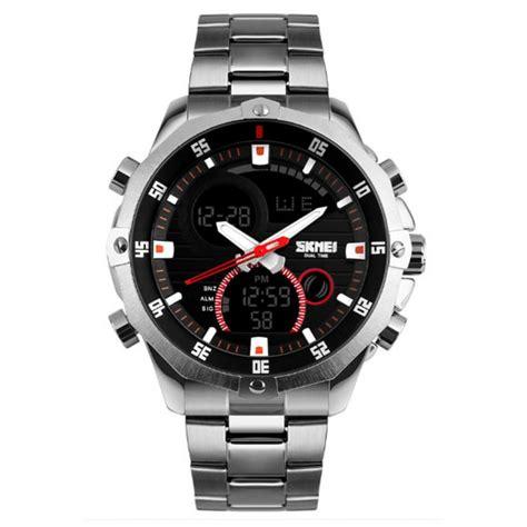 jual jam tangan pria dual time skmei sport led