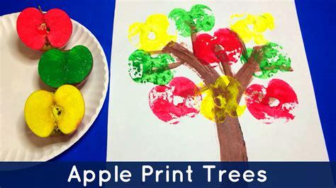 craft projects for kindergarten apple print trees preschool and kindergarten project