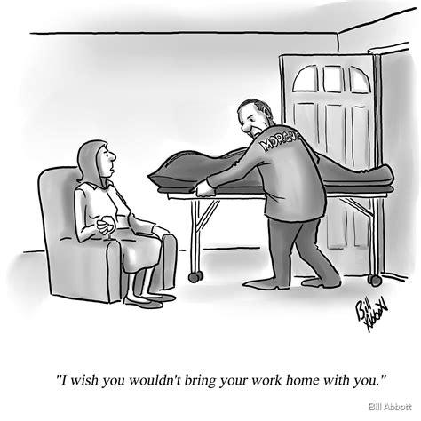 funny percenters mortuary home work cartoon  bill