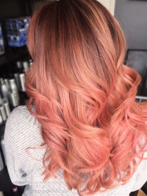 pin by peachy roots on pretty in pink balayage haircolor