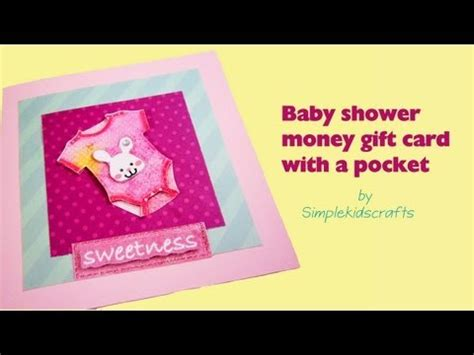 make money with gift cards how to make a simple baby shower money gift card for a