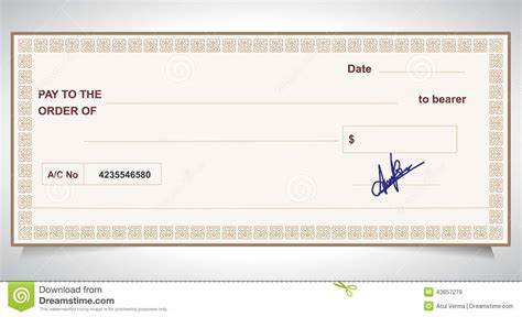 check bank bank check bank cheque stock vector image 43657279