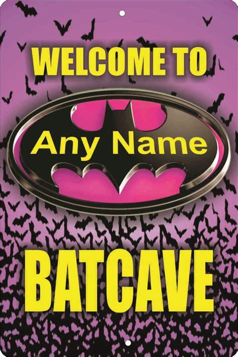 decorative name signs batgirl batcave sign personalized bat cave sign custom