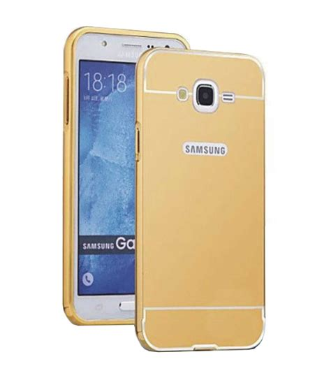 Bumper Mirror Samsung J7 tbz metal bumper acrylic mirror back cover for