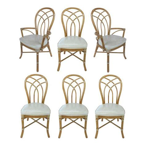 Mcguire Dining Chairs Mcguire Rattan Dining Chairs Set Of 6 Modernism