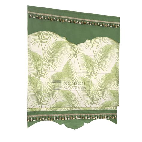 leaf patterned roman blinds green leaf patterned pastoral roman shades