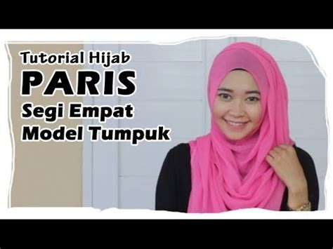 tutorial bungkus kado segi empat hijab tutorial paris segi empat square scarf simple