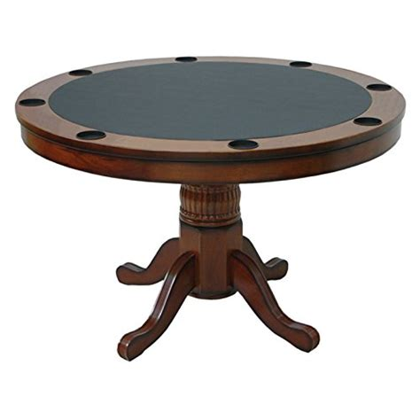 convertible poker dining table ram gameroom convertible wooden poker table 48 in round