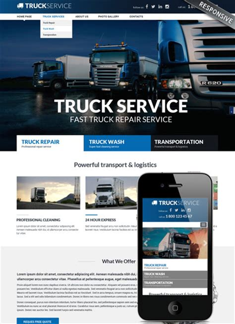 bootstrap templates for logistics truck service bootstrap template id 300111862
