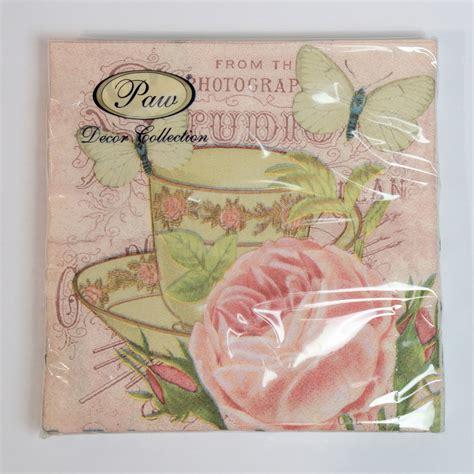 decorative paper ebay 20 pck vintage decorative paper napkins decoupage craft