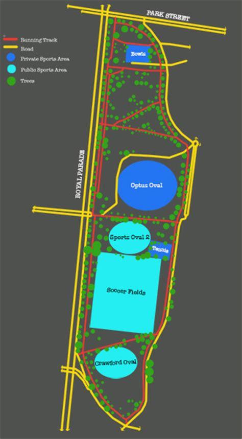 Map 3 Princess 2 Design go for a run at princes park melbourne