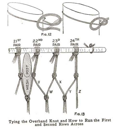 How To Tie A Hammock Knot how to make a hammock hammocks macrame craft and paracord