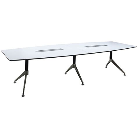 12 Foot Conference Table by 12 Foot Melamine Boat Shaped Conference Table