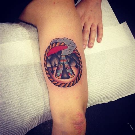 cool tipi tattoo by kirk jones good luck tattoo