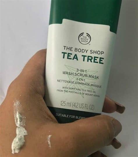 Scrub Tea Tree Shop the shop tea tree 3 in 1 wash scrub mask review