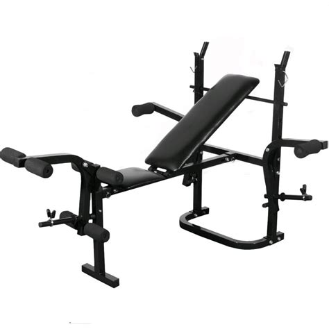 dumbbell or barbell bench vidaxl co uk folding weight bench dumbbell barbell set