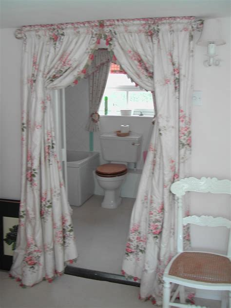 bathroom door curtain top 10 ways to include curtains in your bathroom decor