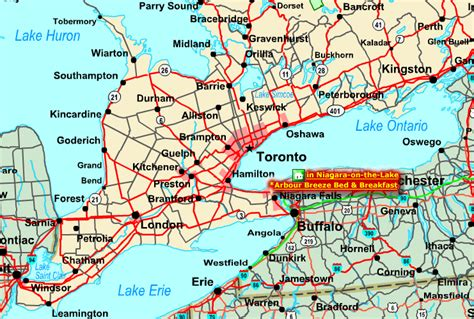 maps ontario directions regional map of southern ontario