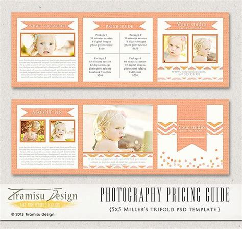 Photography Trifold Brochure Template Client Welcome Guide Photography Pricing Guide Template