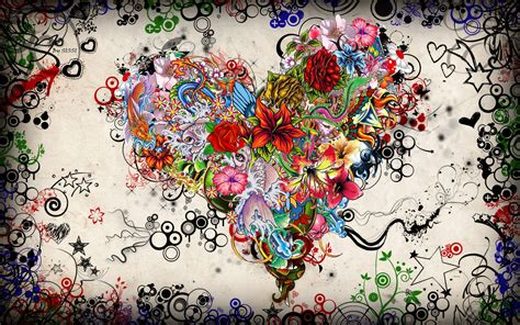 wallpaper flower with heart flower heart wallpapers and images wallpapers pictures