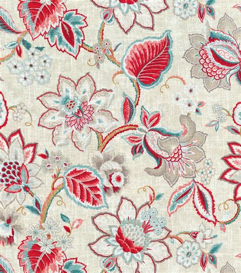 floral upholstery upholstery fabric waverly floral fresh strawberry jo ann