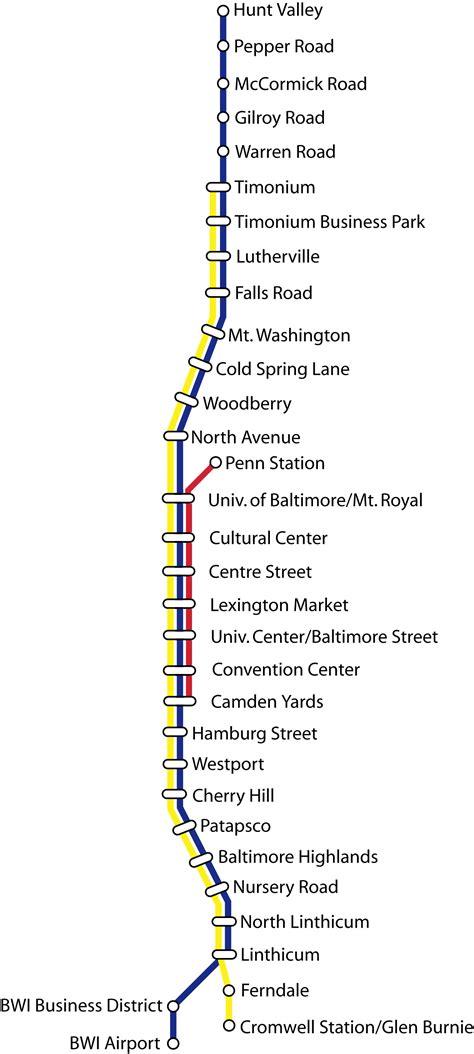baltimore light rail map light rail rapid transit commuter rail skyscrapercity