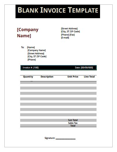 Blank Invoice Template Download Create Edit Fill And Print Wondershare Pdfelement Free Editing Templates