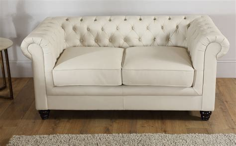 ivory chesterfield sofa hton 3 seater leather chesterfield sofa ivory only 163