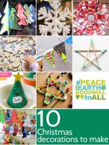 Here s ten ideas for christmas decorations to make