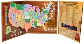united states map for state quarters national park quarters collector map hobbymaster
