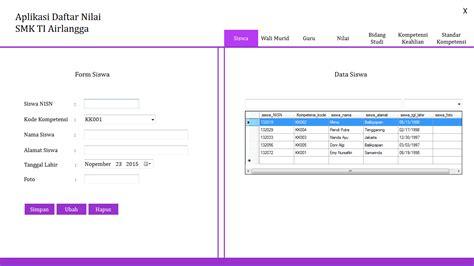 membuat database nilai siswa rpl rekayasa perangkat lunak aplikasi pelaporan data