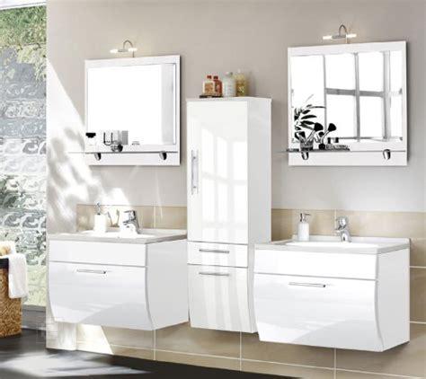 möbel weiss hochglanz wohnzimmer 5tlg badkombination toronto in hochglanz weiss