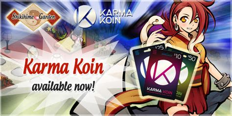 Karma Koin Giveaway - shikihime garden karma koin now available free online mmorpg and mmo games list onrpg