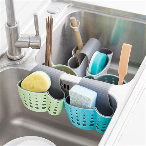 Rak Tempat Cuci Piring gantungan rak tempat cuci piring 2 slot blue