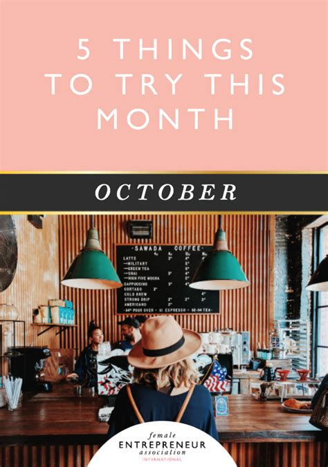 5 Things To Try This New Year by 5 Things To Try This Month October