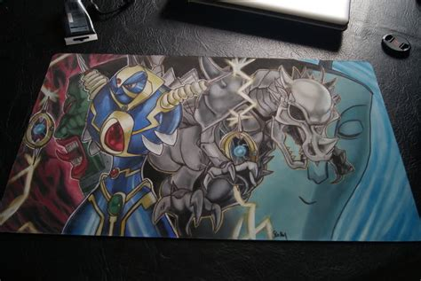 Handmade Playmat - custom playmat thunder king oh dyna by dragonfish9