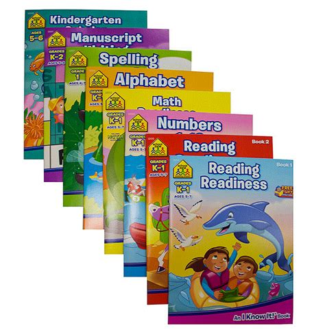 School Zone Kindergarten Stickers And More Workbook school zone assorted kindergarten workbook 002 6144