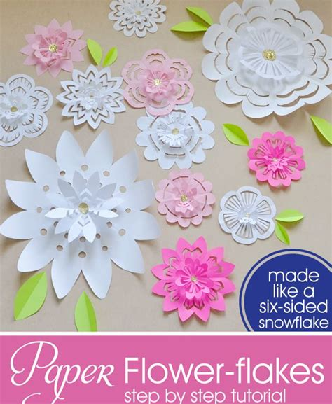 Directions For Paper Flowers - for paper flower flakes fabric