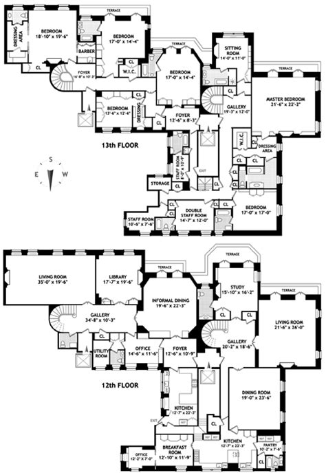 740 park avenue floor plans parks pent house and east side on