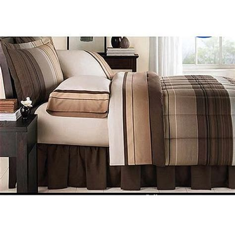 sears bed in a bag mainstays ombre coordinated bedding set with bedskirt bed
