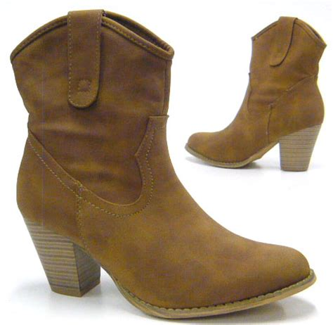 ankle cowboy boots womens s western ankle boot cowboy boots ebay