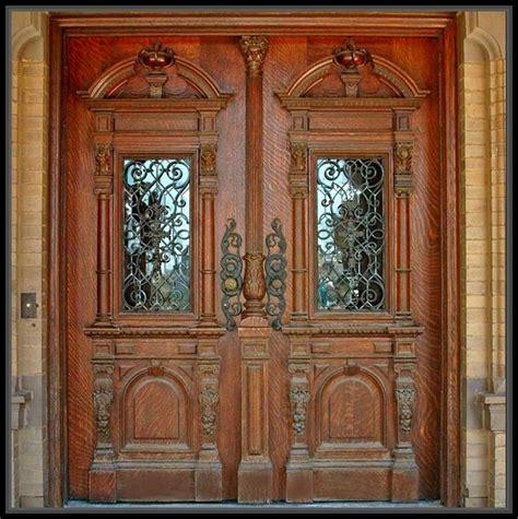 incredible antique wood double doors home decor