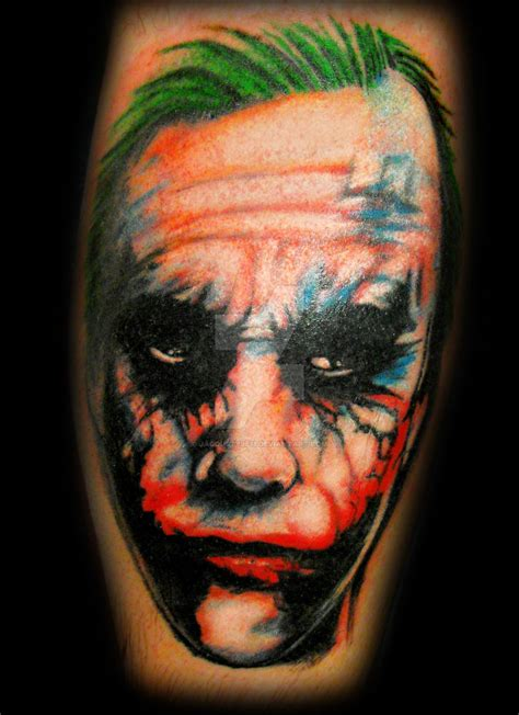 joker tattoo deviantart the joker tattoo portrait by jacqustyle11 on deviantart