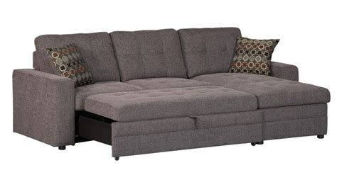 sofa pull out bed charcoal black sectional sofa storage chaise and pull out bed chenille ebay