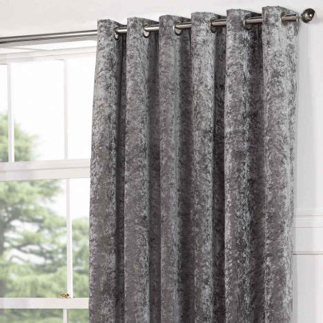 crushed velvet curtains grey kensington crushed velvet eyelet door curtain