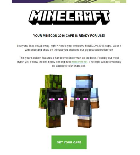 Free Minecon Cape Giveaway - planet minecraft view topic minecon cape 2016 giveaway