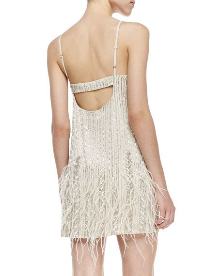 beaded feather dress monaco sleeveless beaded feather dress